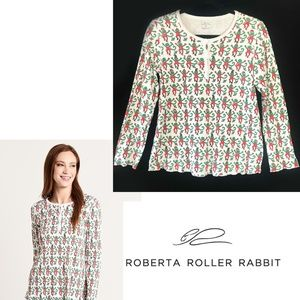 Roberta Roller Rabbit Monkey Mas Pajama PJ Top, S